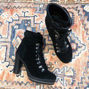 Kelsi Dagger Rane Leather Lace Up Platform Heels 9